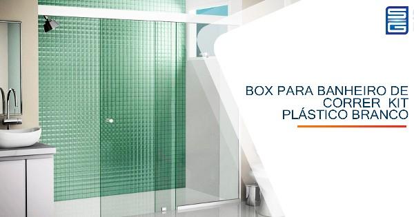 Box para Banheiro de Correr  Kit Plástico Branco Guarulhos